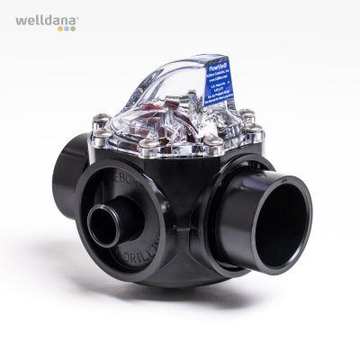 Flow measurer, FlowVis, With non-return valve