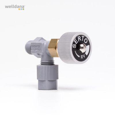 Elbow shut off valve Sparepart f. PM4/5