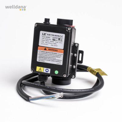 Spa elvarmer 3 KW   230V m. overkogsikring  uden termostat