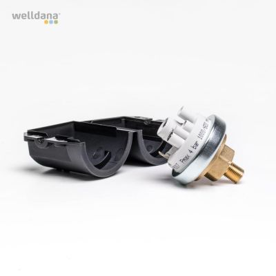 Pressure switch. IP44 6/2 amp.  250/24V, brass