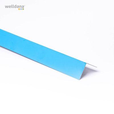 Metalliner, 5x5cm corner 200cm, blue liner