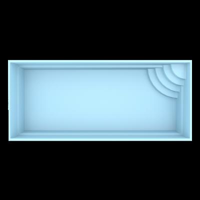 Fiber pool model Rom 7 x 3,5 x 1,5 m