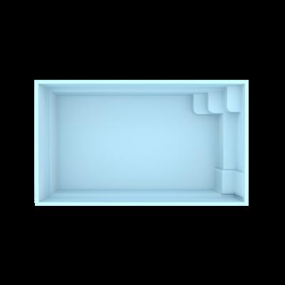 Fiber pool model San Marino 4,5 x 2,5 x 1,3 m