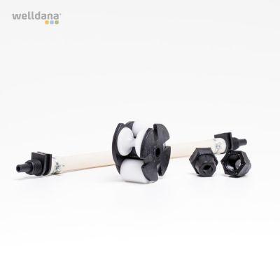 Repair kit f/ peristaltic pump (hose+drive wheel) 3 ltr/3 bar