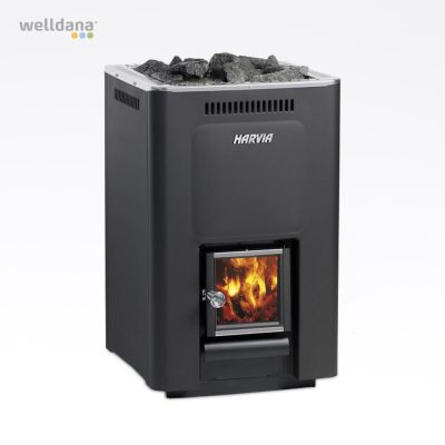 Harvia 36, woodburning stove 14-36m3, black cast iron