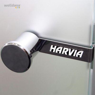 Handle & doorlock for sauna wooden door.