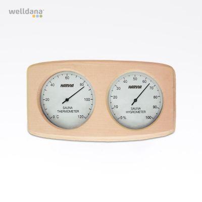 Thermometer/hygrometer wooden frame
