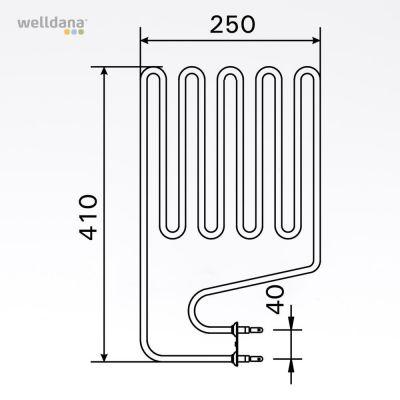 Heating element 2000W Elegance/Senator