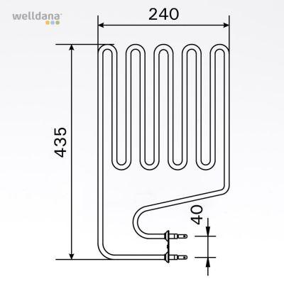 Sauna element 2150W  (ZSP 240)