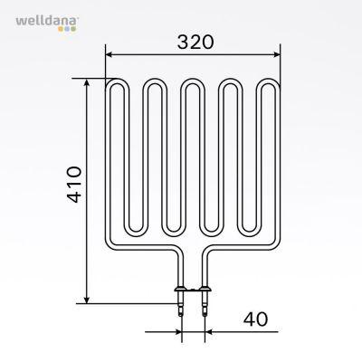 2500W element, 230V