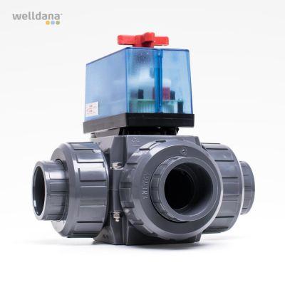3-way motor valves