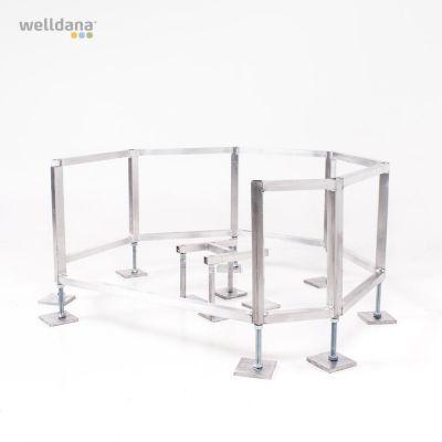 Frame for public spa