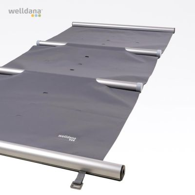 Safety cover, dark grey, with roll-up and lock