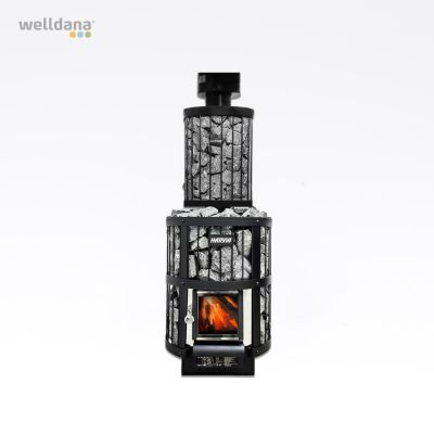 Harvia Legend water heater, pipe model 25L black, 25L, 36.0x36.0x91.0cm, for Legend stoves